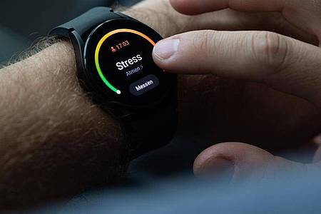 Sind Sie vielleicht gestresst? Die Uhr meint, das erkennen zu können. Letzte Zweifel bleiben nach etlichen stressfreien Messungen aber. Foto: Franziska Gabbert/dpa-tmn