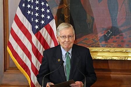 Der republikanische Mehrheitsführer Mitch McConnel. Foto: Niall Carson/PA/dpa/Archiv