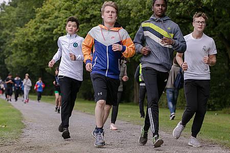 Schüler beim AOK Laufwunder