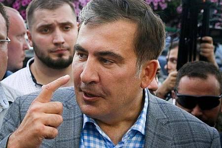 Michail Saakaschwili, ehemaliger Präsident von Georgien. Foto: Efrem Lukatsky/AP/dpa/Archivbild