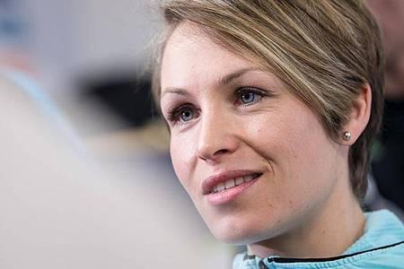 Geht mit IOC-Boss Thomas Bach hart ins Gericht: Ex-Biathletin Magdalena Neuner. Foto: Sven Hoppe/dpa