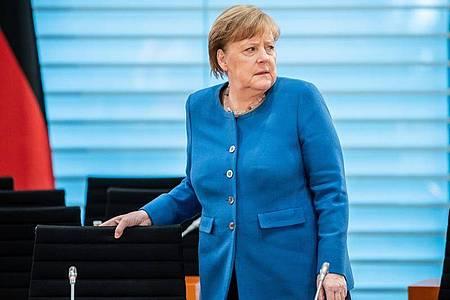 Bundeskanzlerin Angela Merkel bei der Sitzung des Bundeskabinetts am Mittwoch. Foto: Michael Kappeler/dpa-pool/dpa