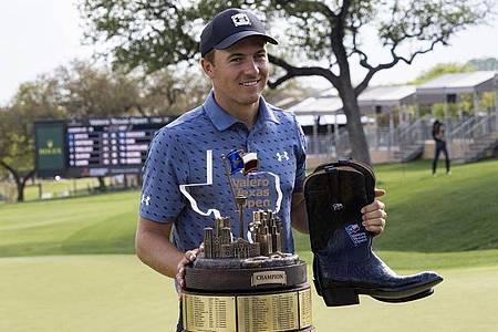 Jordan Spieth gewann im April die Valero Texas Open. Foto: Michael Thomas/AP/dpa