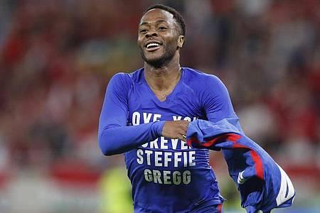 Raheem Sterling traf für England in Budapest. Foto: Laszlo Balogh/AP/dpa