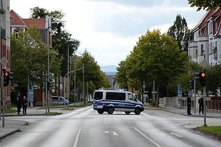 Die Göttinger Innenstadt wurde gesperrt. Foto: Swen Pförtner/dpa
