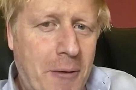 Selbst hatte sich Boris Johnson zuletzt per Video gemeldet - noch aus der Quarantäne in der Downing Street. Foto: Boris Johnson/TWITTER/@BorisJohnson/dpa