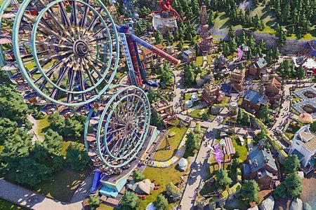 «Park Beyond» gehört zum Spielgenre der Freizeitpark-Simulationen. Foto: Bandai Namco/dpa-tmn