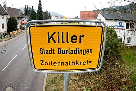 Die Ortstafel des Dorfes Killer. Foto: picture alliance / dpa