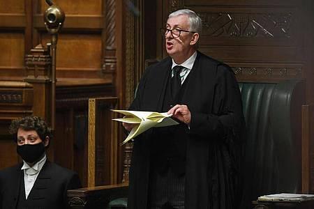 Sir Lindsay Hoyle meldet sich zu Wort. Foto: Uk Parliament/Jessica Taylor/PA Media/dpa