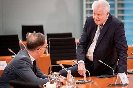 Außenminister Heiko Maas (l, SPD) und Innenminister Horst Seehofer (CSU). Eine Rettungsinitiative macht den Ministerien der beiden schwere Vorwürfe. Foto: Kay Nietfeld/dpa