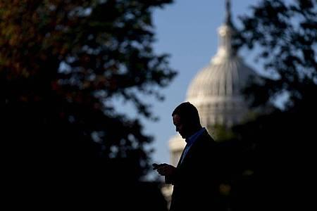 Im Zentrum der politischen Macht in den USA wird dieser Tage unermüdlich verhandelt. Foto: Andrew Harnik/AP/dpa
