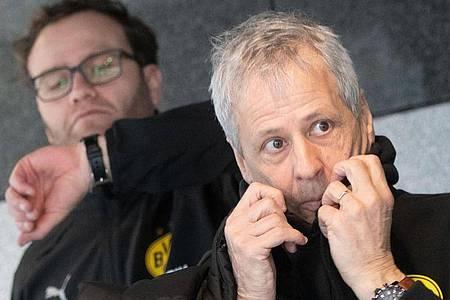 Will mit dem BVB ins Königsklassen-Achtelfinale:Trainer Lucien Favre. Foto: Bernd Thissen/dpa