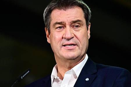 Der CSU-Vorsitzende Markus Söder ist enttäuscht vomErgebnis der Bundestagswahl. Foto: Fabian Sommer/dpa