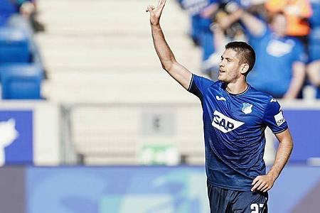 Hoffenheims Torjäger Andrej Kramaric war zum ersten Mal in dieser Saison erfolgreich. Foto: Uwe Anspach/dpa