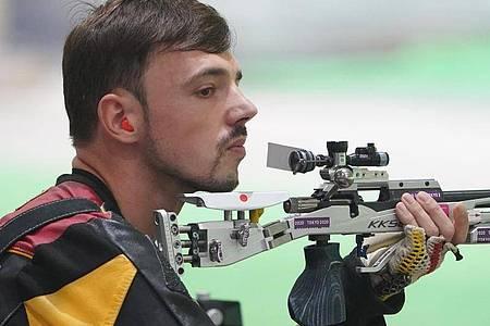 Scheiterte in Tokio in der Qualifikation: Sportschütze Tim Focken. Foto: Marcus Brandt/dpa