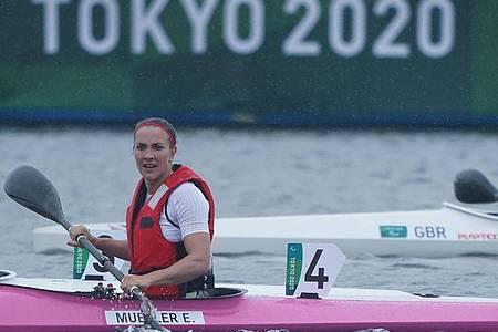 Darf bei den Paralympics auf eine Kanu-Medaille hoffen. Edina Müller. Foto: Marcus Brandt/dpa