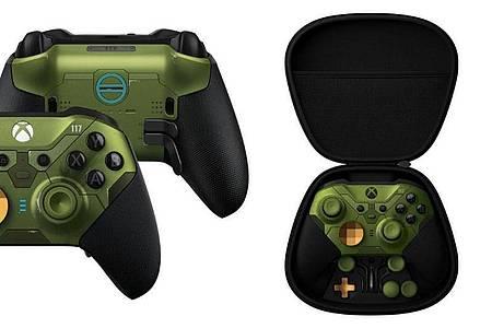 Für das Spiel «Halo Infinite» gibt es demnächst auch einen Xbox-Controller in Halo-Optik. Foto: Microsoft/dpa-tmn