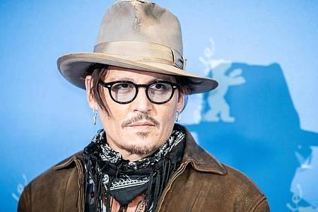 Schauspieler Johnny Depp in Berlin. Foto: Michael Kappeler/dpa