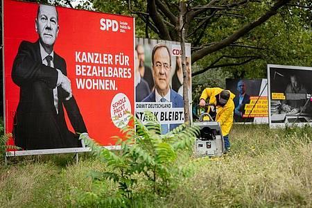Plakate für die Bundestagswahl in Berlin. Foto: Kay Nietfeld/dpa