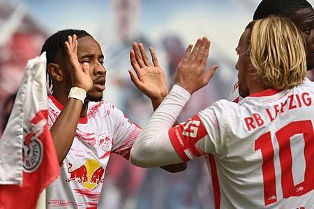 RB Leipzig setzte sich souverän gegen die Hertha durch. Foto: Robert Michael/dpa-Zentralbild/dpa