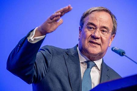 Armin Laschet, Unions-Kanzlerkandidat, CDU-Bundesvorsitzender und Ministerpräsident von Nordrhein-Westfalen. Foto: Michael Kappeler/dpa