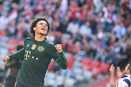 Bayern Münchens Leroy Sané machte gegen den VfL Bochum ein ganz starkes Spiel. Foto: Sven Hoppe/dpa