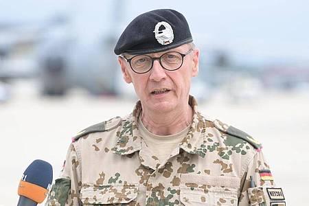 Brigadegeneral Ansgar Meyer ist neuer Kommandeur des KSK. Foto: Hauke-Christian Dittrich/dpa-Pool/dpa