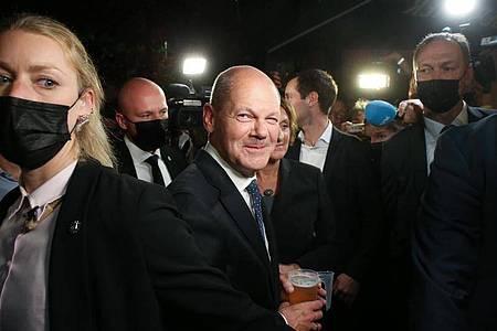 Die SPD will mit Olaf Scholz den nächsten Kanzler stellen. Foto: Wolfgang Kumm/dpa