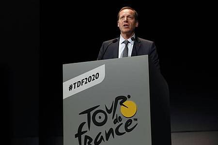 Erteilt einer Tour ohne Zuschauer eine Absage: Christian Prudhomme, Direktor der Tour de France. Foto: Thibault Camus/AP/dpa