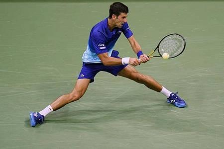 Novak Djokovic in Aktion. Foto: Frank Franklin II/AP/dpa
