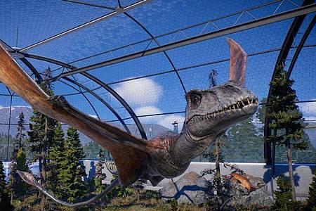 «Jurassic World Evolution 2» bringt unter anderem neue Flugsaurier ins Spiel. Foto: Frontier/dpa-tmn