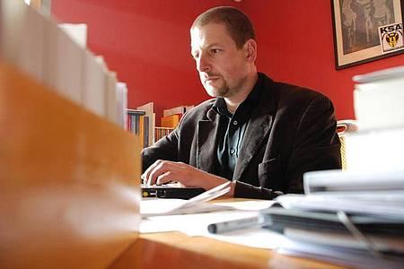 Das Archivfoto zeigt den rechten Verleger Götz Kubitschek. Foto: picture alliance / dpa