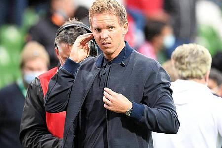 Kehrt an seine alte Wirkungsstätte zurück: Bayern-Coach Julian Nagelsmann. Foto: Carmen Jaspersen/dpa