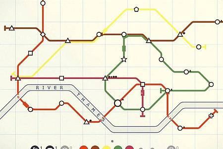 Hallo London Underground!In «Mini Metro» können Spielerinnen und Spieler das Londoner U-Bahnnetz nachbauen. Foto: Dinosaur Polo Club/dpa-tmn