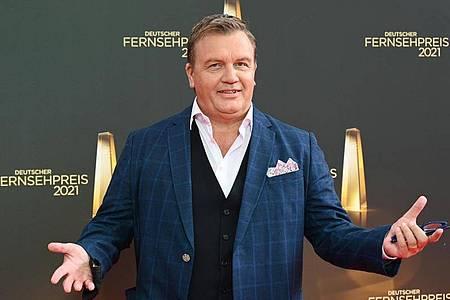Entertainer Hape Kerkeling erhält den Ehrenpreis für sein Lebenswerk. Foto: Henning Kaiser/dpa