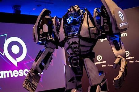 Maskottchen der Gamescom: Die Besucher sehen es nur auf Bildschirmen, denn pandemiebedingt ist die Spielemesse wie 2020 eine rein digitale Veranstaltung. Foto: Marius Becker/dpa/dpa-tmn
