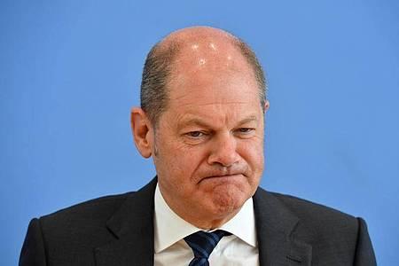Milliardenschweres Krisenpaket: Bundesfinanzminister Scholz hatte vor der Sitzung für drei «Instrumente der Solidarität» geworben. Foto: John Macdougall/AFP POOL/dpa