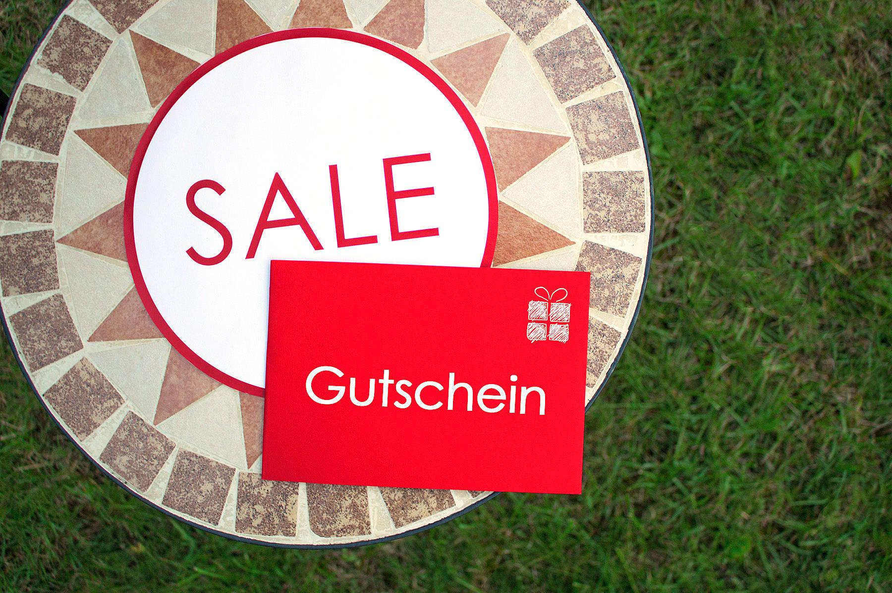 Gutschein-Box Sale