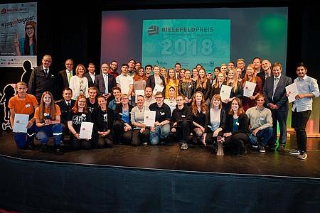 Gruppenfoto beim Bielefeld-Preis