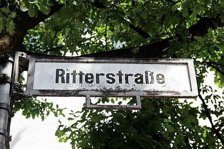 Straßenschild der Ritterstraße in Bielefeld