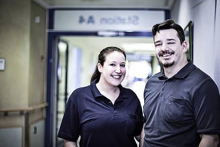 Physio Teammitglieder vom Klinikum Bielefeld Mitte