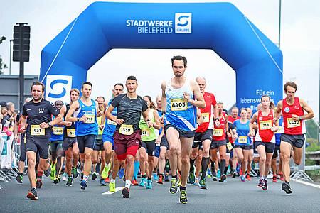 run & roll day Start der Läufer