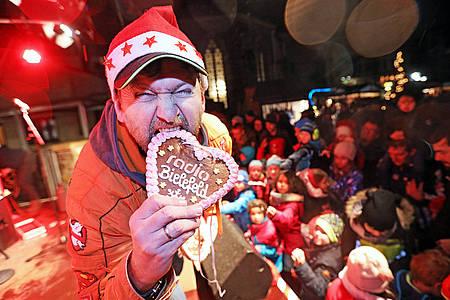 Jochen Vahle von Randale beim Weihnachtsmarkt