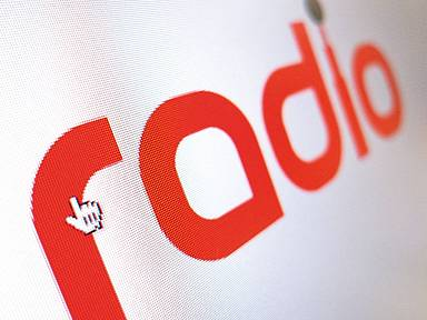 "Schriftzug ""radio"""