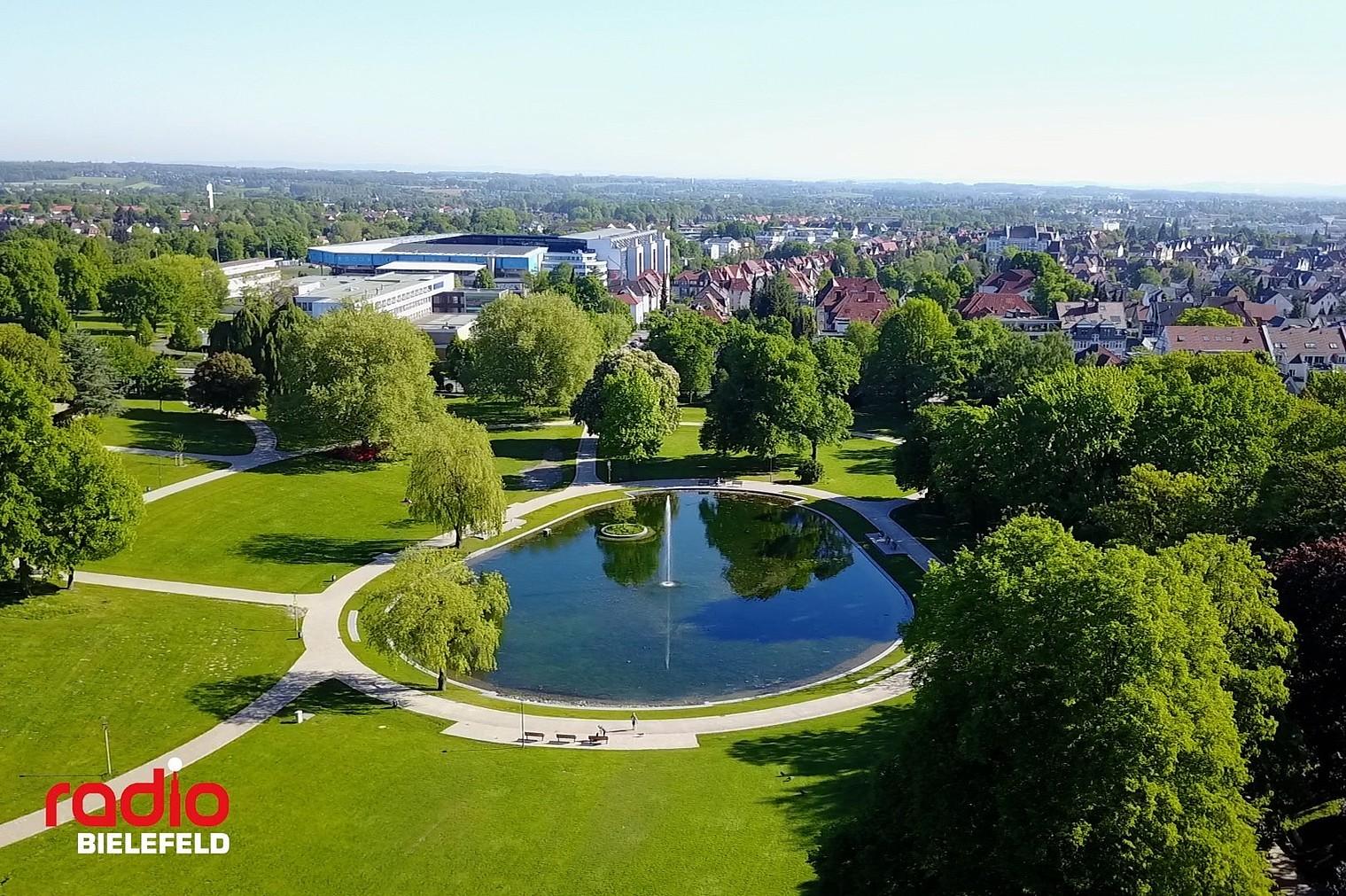 Bielefelder Bürgerpark von oben