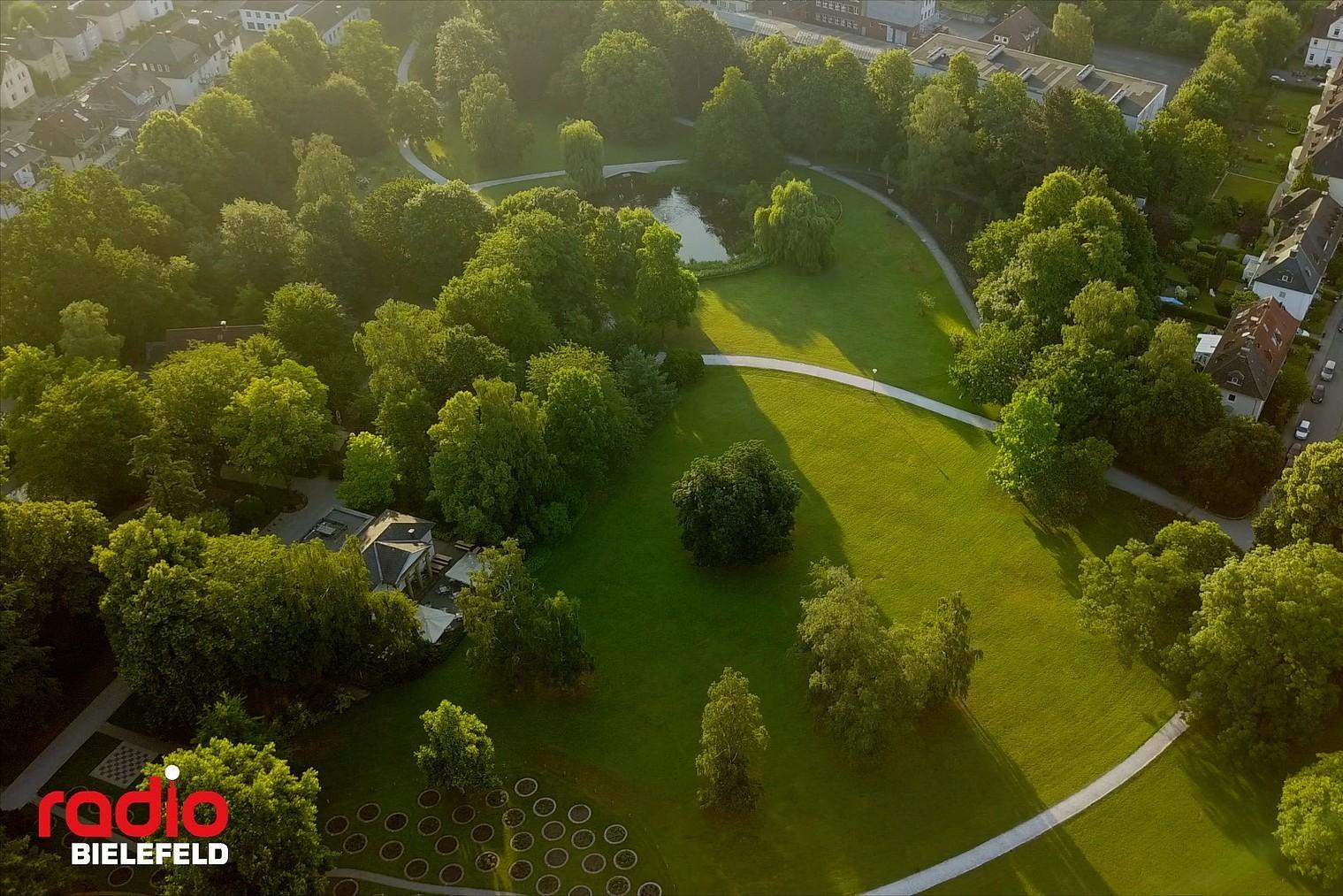 Der Nordpark in Bielefeld von oben